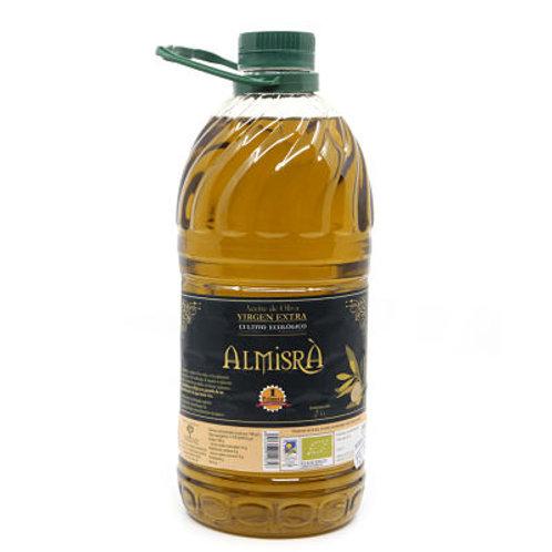 Aceite de oliva vírgen extra de cultivo ecológico Almisrà. 6 litros. (3 x 2L)