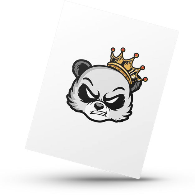 Panda w/ Crown Head