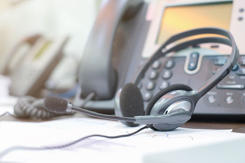 close-up-call-center-headset-laying-on-t