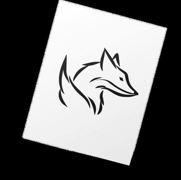 🛒 Fox Head w/ Tail Outline