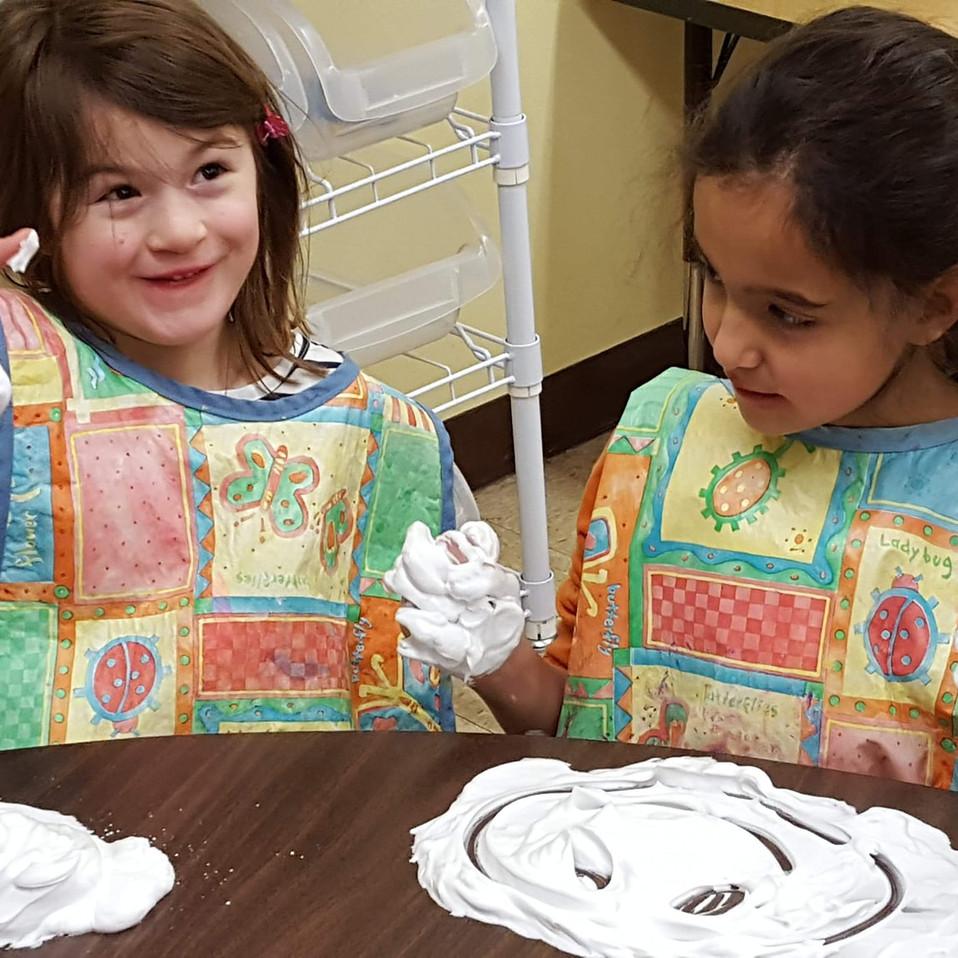 Preschool Hands on Night shaving cream.j