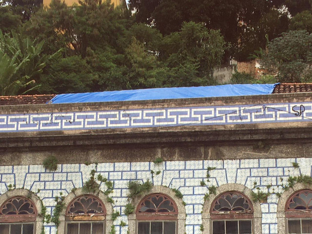 estrutura do telhado restaurada