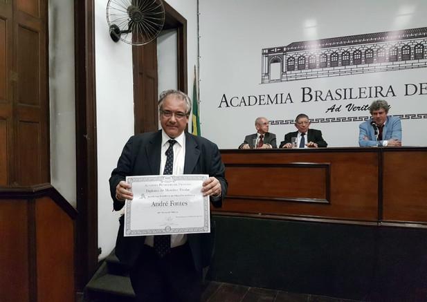 Posse do Acadêmico André Fontes