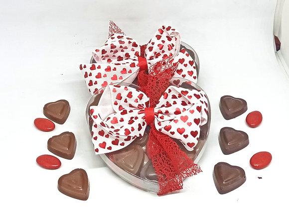Boite Cœur garni de chocolat