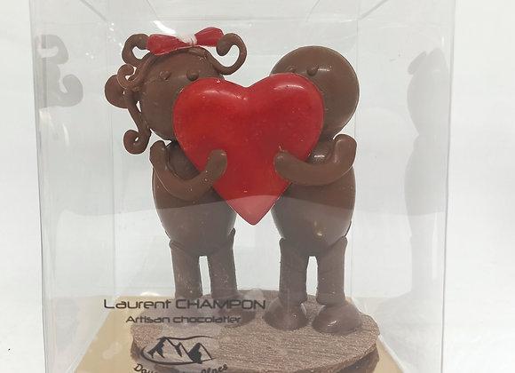 Montage en chocolat Toi & Moi