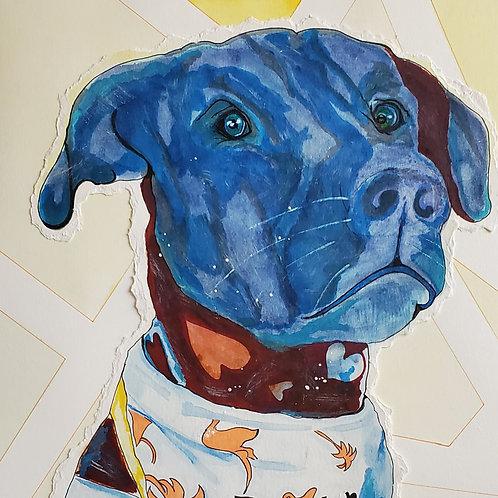 Commissioned Pop Art Pup Portraits