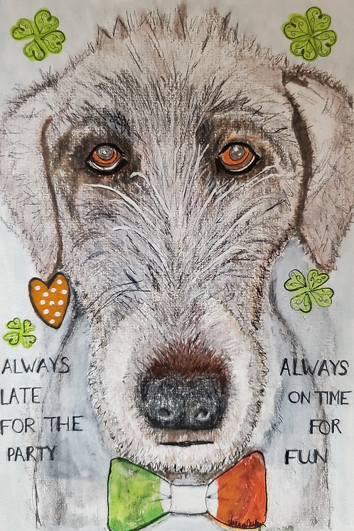 SOLD Original Irish Wolfhound Always Late
