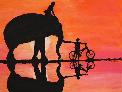 "24X24  ORIGINAL ""Sweet Ride"" Canvas"