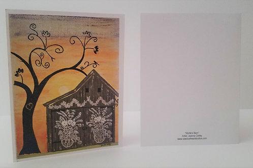"Notecard Set ""Mrytle's Barn"" Set/8 Cards"