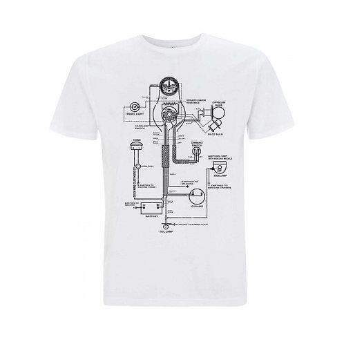 OILY RAG Wiring Diagram T-shirt White