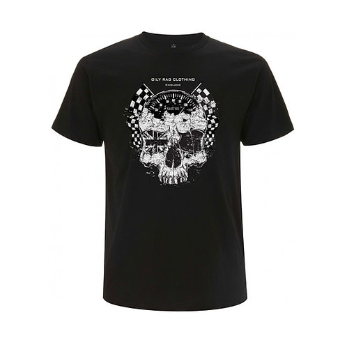 OILY RAG Skull and Ton-up Speedo T-shirt