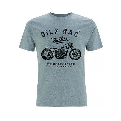 OILY RAG Bobber T-shirt Grey