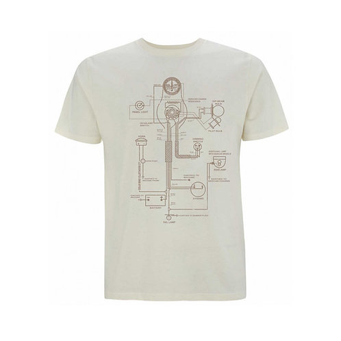 OILY RAG Wiring Diagram T-shirt Cream