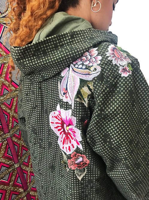 Hand Embroidered Fully Lined Vintage Army Parka