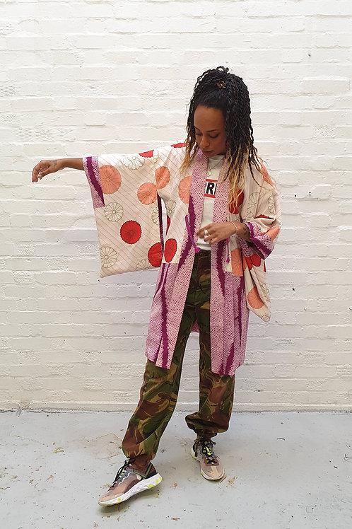 Vintage Shibori dye kimono