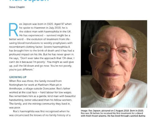 Case history of a 98 YO Hemophilia Patient Below is a link to a case history involving a 98 year old
