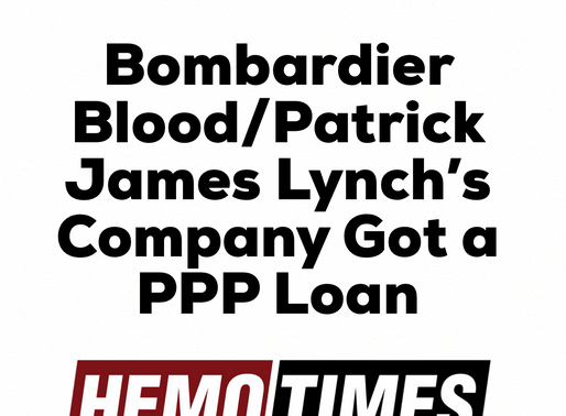 Believe Limited of Bombardier Blood Documentary Received a PPP Loan