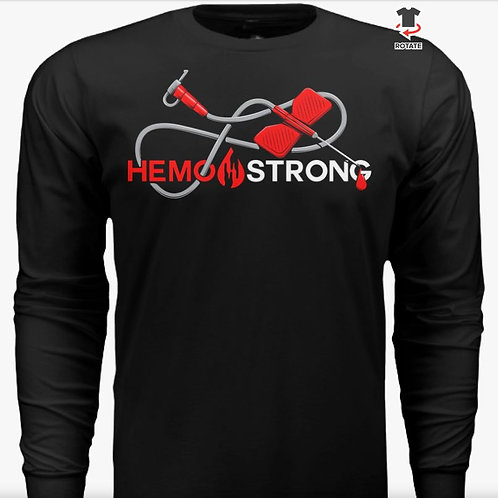 Long Sleeve Hemo Strong Butterfly Needle Tee