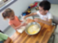 Children baking cookies. Wow children playing and raising much needed funds fo. childcare near me, hillside, kindergarten, josie's bright beginnings, kindergarten near me. long day care.