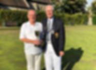Derek Meechan 2 Woods Singles winner 201