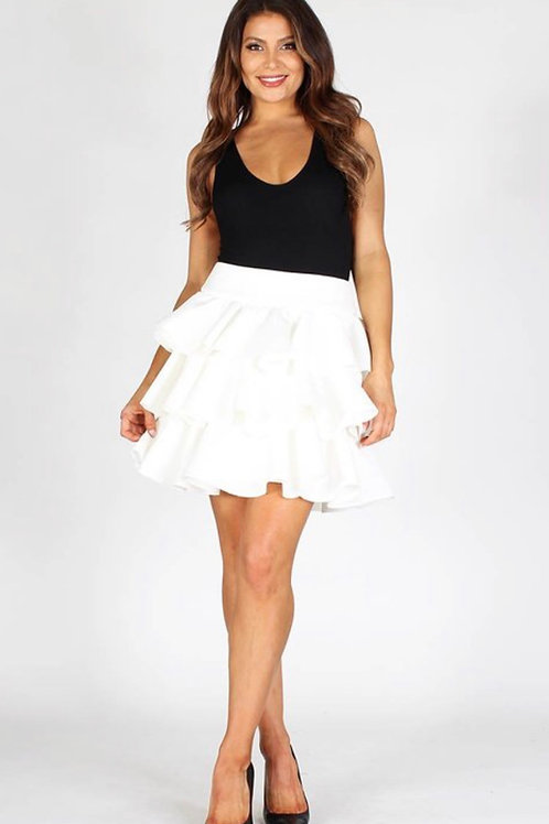 Multi Tiered Ruffle Skirt