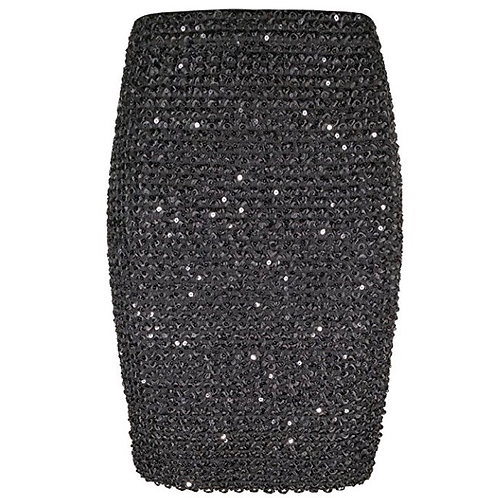 Elastic Bandage Sequins Pencil Skirt