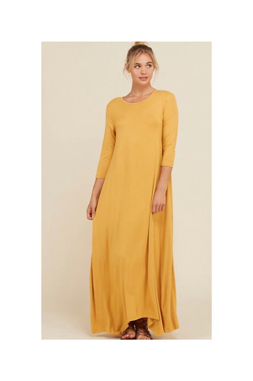 Flared Pocket Maxi Dress
