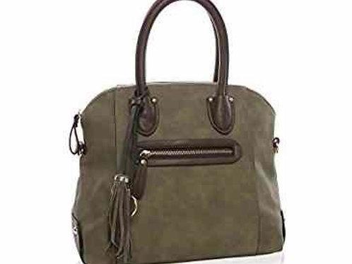Faux Suede Shoulder Bag