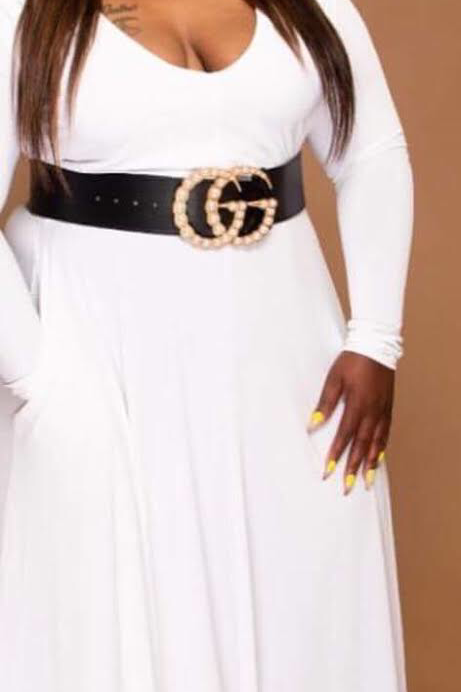 Large 7cm Gucci Pearl Belt