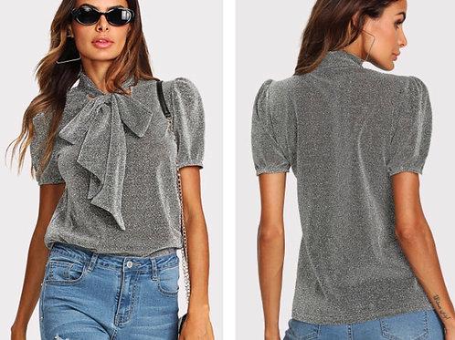 Glitter Bowknot Shirt