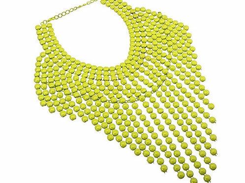Multi Layered Metallic Statement Necklace