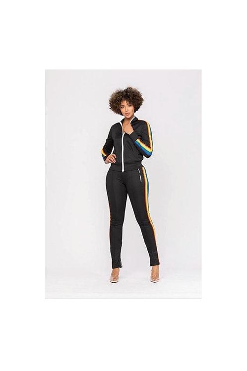 Rainbow Stripe Track Suit