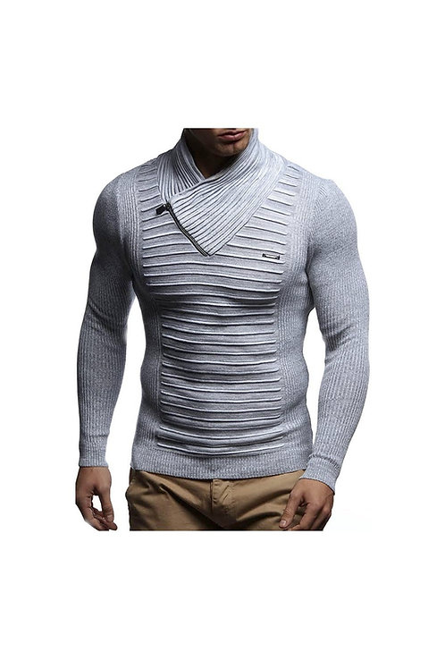 Knitted Fitted Ribbed Sweater