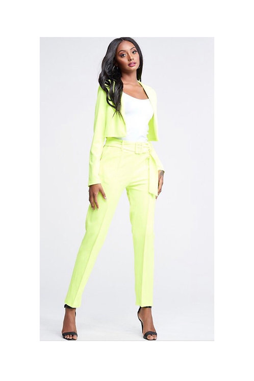 Neon Blazer Pants Set