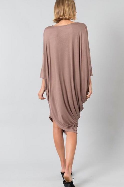Drape Side Bubbled Dress