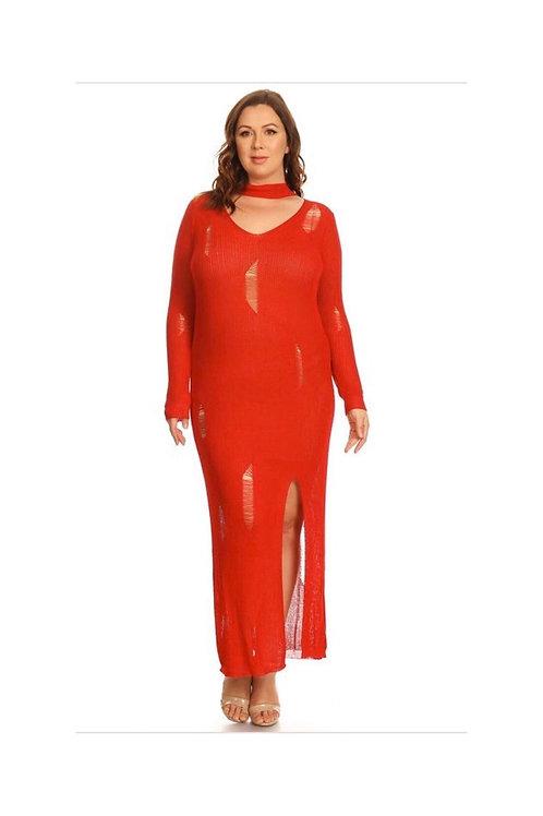 Distressed Acrylic Dress