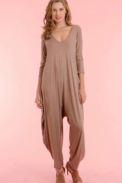 Sleeve Back Cross Jumpsuit