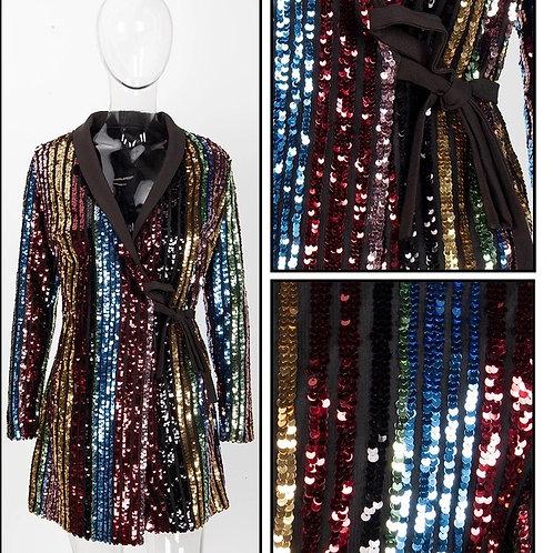 Sequins Wrap Dress