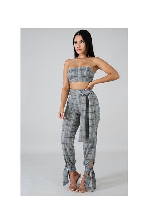 Tube Crop Pants Set