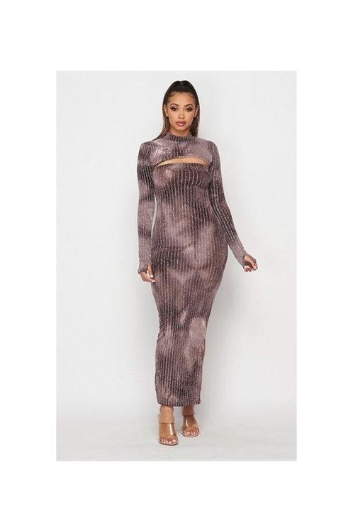 Sparkling Tube Crop Dress Set