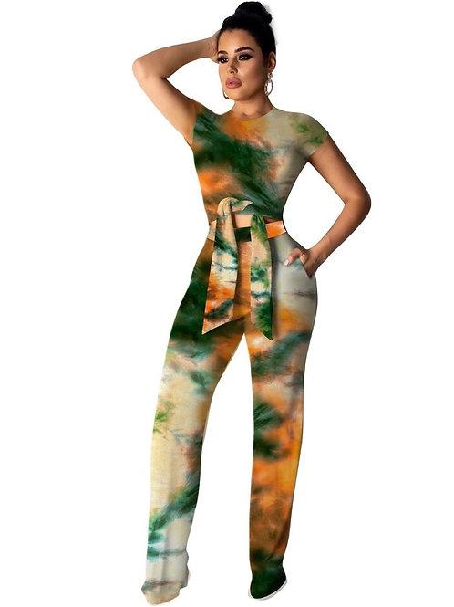 Tie Dye Galaxy Pants Set