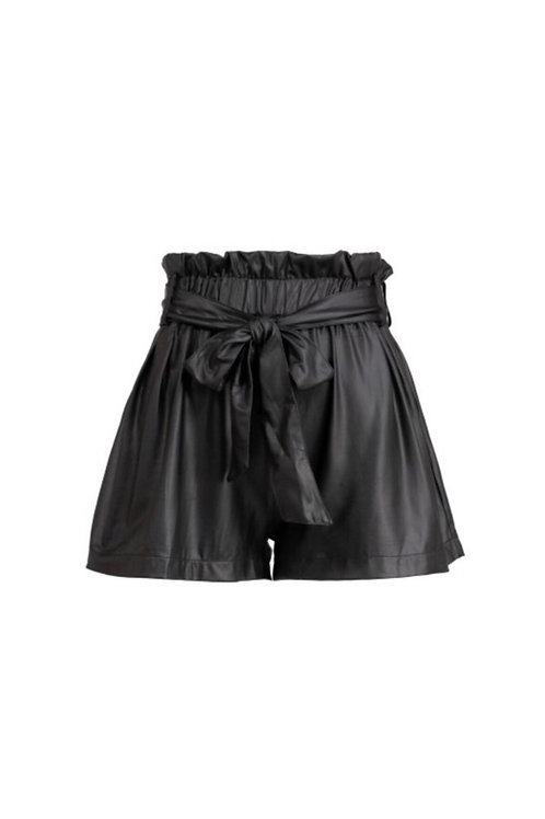 Faux Leather High Waist Shorts