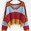Thumbnail: Raw Hem Striped Sweater