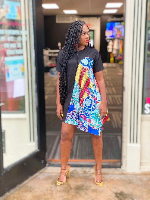 Silk Drape Printed Tunic