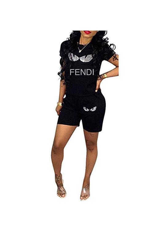 Fendi Inspired Short Set