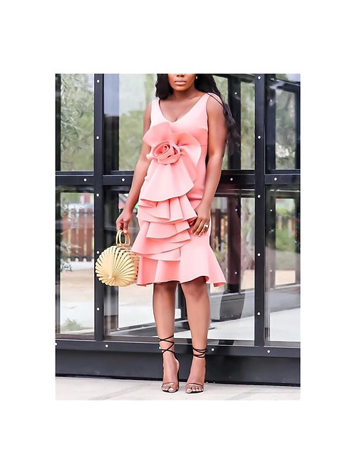 Big Flower Elegant Dress