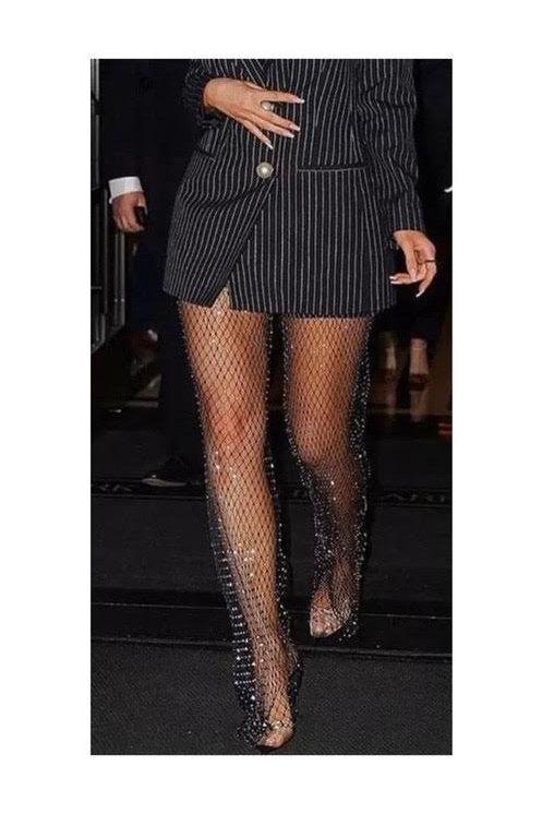 Diamond Fishnet Pants