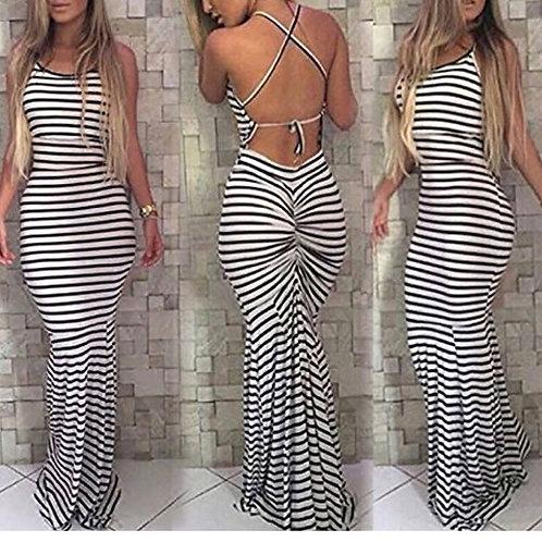 Stripe Boho Maxi Dress