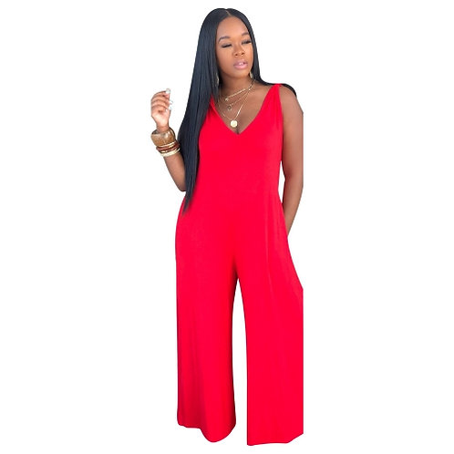 Wide Leg Hooded Relax Jumpsuit