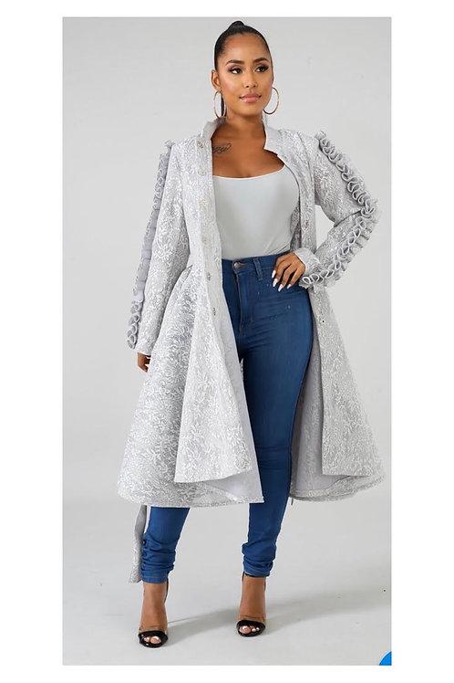 Ruffle Lace Coat Dress
